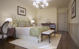 Traditional bedroom classic style Royalty Free Stock Image