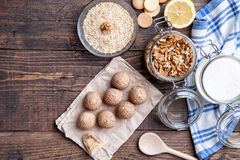 Traditional bee nest cake on wooden background Stock Photography