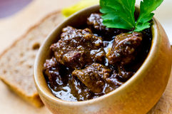 Traditional beef bourguignon Royalty Free Stock Photography