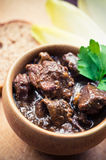 Traditional beef bourguignon Royalty Free Stock Images