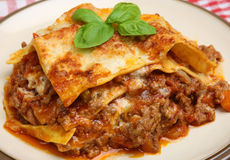 Traditional Beef Lasagne or Lasagna stock photo