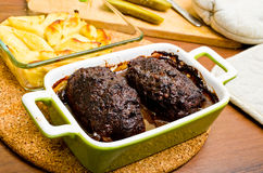 Traditional beef roulades Royalty Free Stock Photography