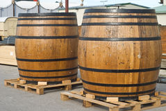 Traditional Beer Kegs Stock Images
