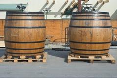 Traditional Beer Kegs Stock Image