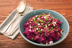 Traditional Beetroot Salad Vinegret Dressed with Mayonnaise Royalty Free Stock Photography