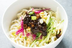 Traditional Beijing Noodles stock image