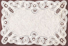 Traditional belgian needlework. White napkin in traditional belgian needlework Royalty Free Stock Images