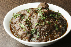 Traditional Bengali boneless mutton curry Royalty Free Stock Photos