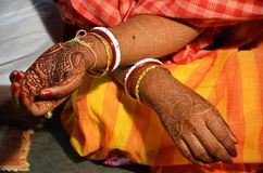 Traditional Bengali marriage and Rituals. There are many rituals of Bengali Wadding in India. It may be different on various locations. But Basic rituals like Royalty Free Stock Photography