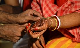 Traditional Bengali marriage and Rituals. There are many rituals of Bengali Wadding in India. It may be different on various locations. But Basic rituals like Stock Photo