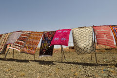 Traditional berber carpets for sale in Morocco Royalty Free Stock Photos
