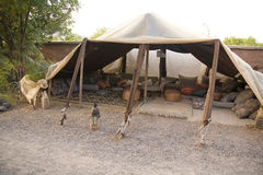 Traditional Berber tent. A view of a traditional Moroccan Berber tent Stock Image
