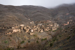 Traditional berber village in Atlas Mountains. Morocco, Africa stock images