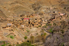 Traditional Berber Village In Atlas Mountain Stock Photos