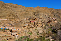 Traditional Berber Village In Atlas Mountain Stock Image