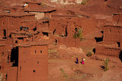 Traditional berbers village in High Atlas Stock Photo