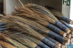 Traditional Bhutanese brooms on a pile Stock Photography