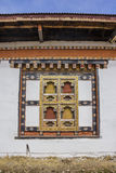 Traditional bhutanese window Royalty Free Stock Images
