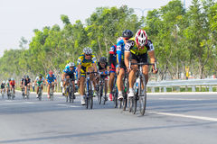 Traditional bicycle race to welcome the New Year 2015 Stock Images