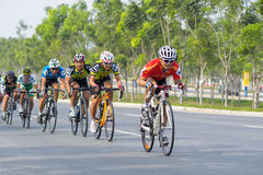 Traditional bicycle race to welcome the New Year 2015 Royalty Free Stock Photo