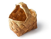 Traditional birch basket Royalty Free Stock Image