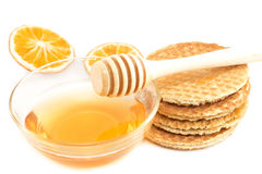 Traditional biscuits with the honey Stock Photo