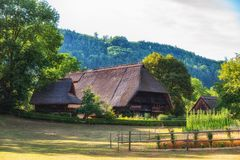 Traditional Black Forest farmstead stock photo