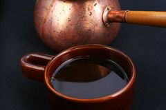 Traditional black turkish coffee Royalty Free Stock Photos