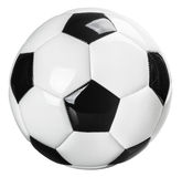 Traditional black and white football isolated on Stock Images
