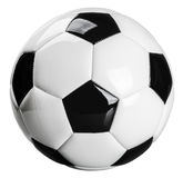 Traditional black and white football stock images