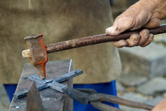 Traditional blacksmith scene Stock Photography