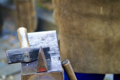 Traditional blacksmith scene close up Stock Image