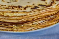 Traditional blini  pancakes. Pancake week. Maslenitsa is an Eastern Slavic traditional holiday. Celebrated during the week before the Great Lent royalty free stock photos