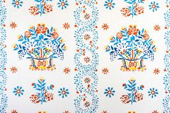 Traditional block printed fabric design royalty free stock image