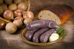 Traditional blood sausage Royalty Free Stock Photography