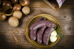 Traditional Blood Sausage Stock Photography