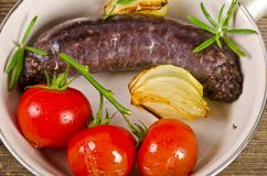 Traditional blood sausage Stock Images