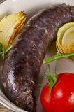Traditional blood sausage Royalty Free Stock Photo