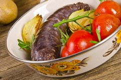 Traditional blood sausage Royalty Free Stock Image