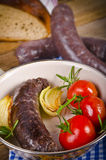 traditional blood sausage Stock Photos