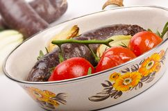 Traditional blood sausage Stock Image