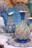 Traditional  blue arabic porcelain ware Stock Photography