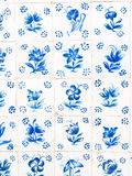 Traditional blue azulejos in Obidos, Portugal Stock Images
