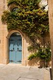 Blue door on the streets of Mdina, Malta. Traditional blue door on the streets of Mdina, Malta Royalty Free Stock Photo