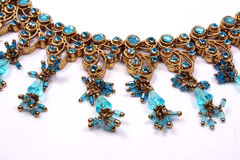 Traditional Blue Necklace Stock Photos