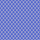 Traditional blue pixel seamless square pattern stock illustration