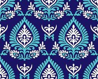 Traditional blue seamless indian pattern Stock Photo