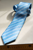 Traditional blue striped necktie Royalty Free Stock Photography
