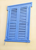 Traditional blue window at Sifnos island Greece royalty free stock photos