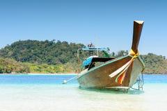 Traditional boat at Andaman Sea, Thailand Royalty Free Stock Photo